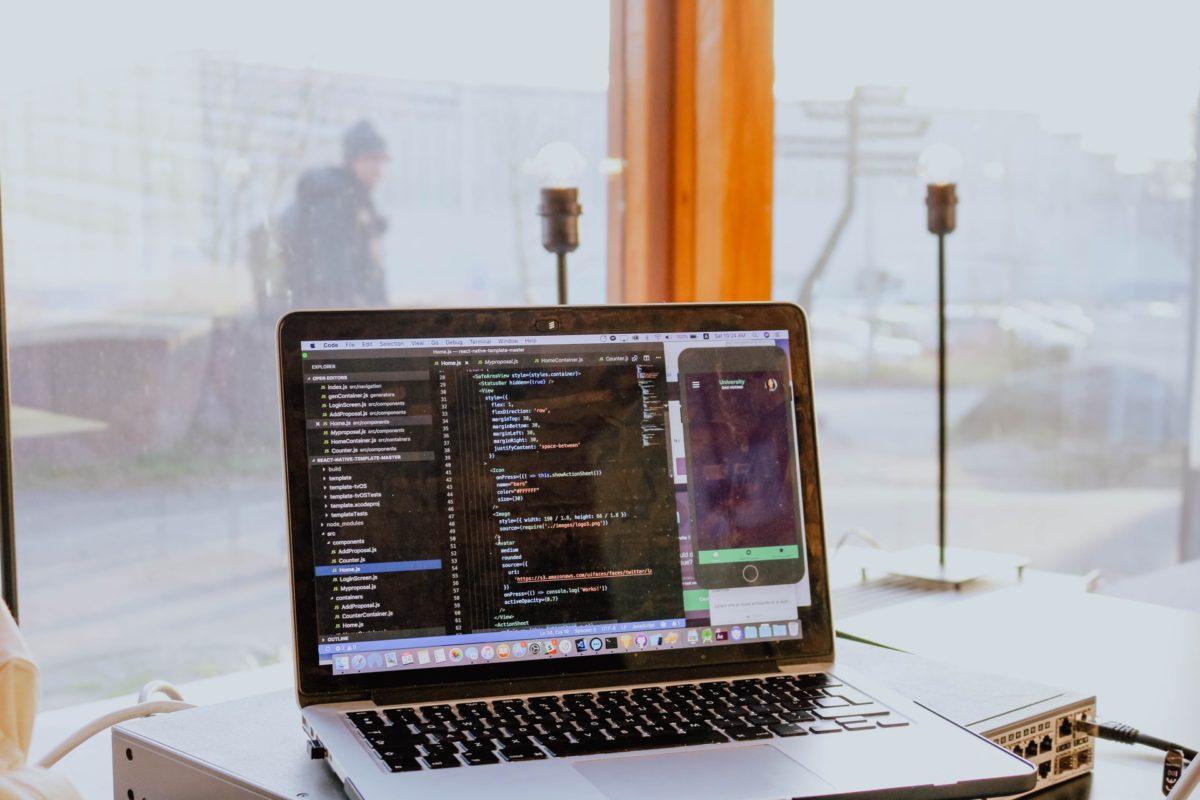 プログラミング作業中の画面