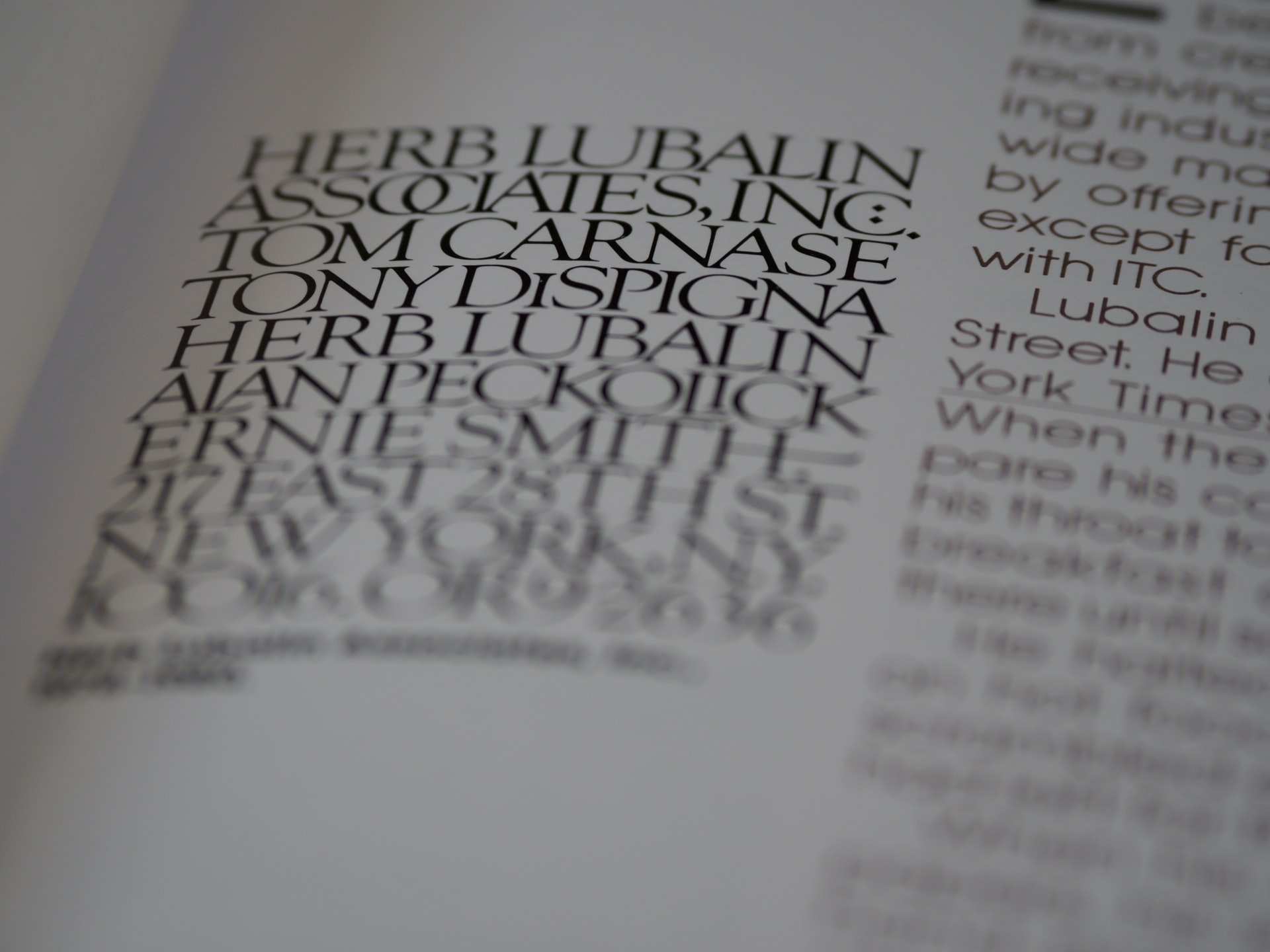 フォントの本