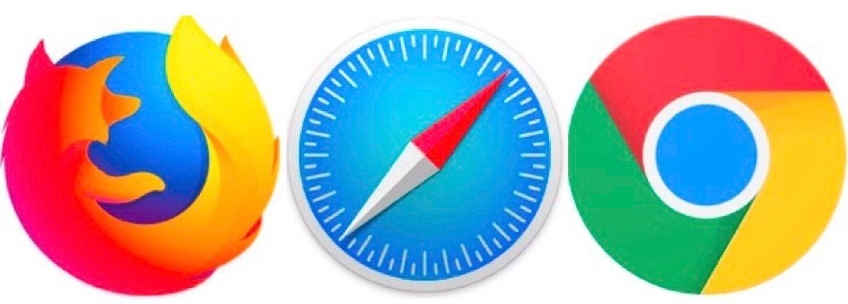 WEBブラウザのsafariやchrome、firefoxのアイコン