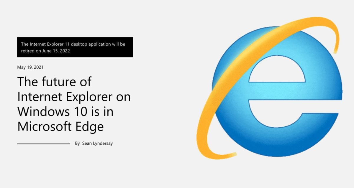 インターネットエクスプローラーサポート終了のWEBページ