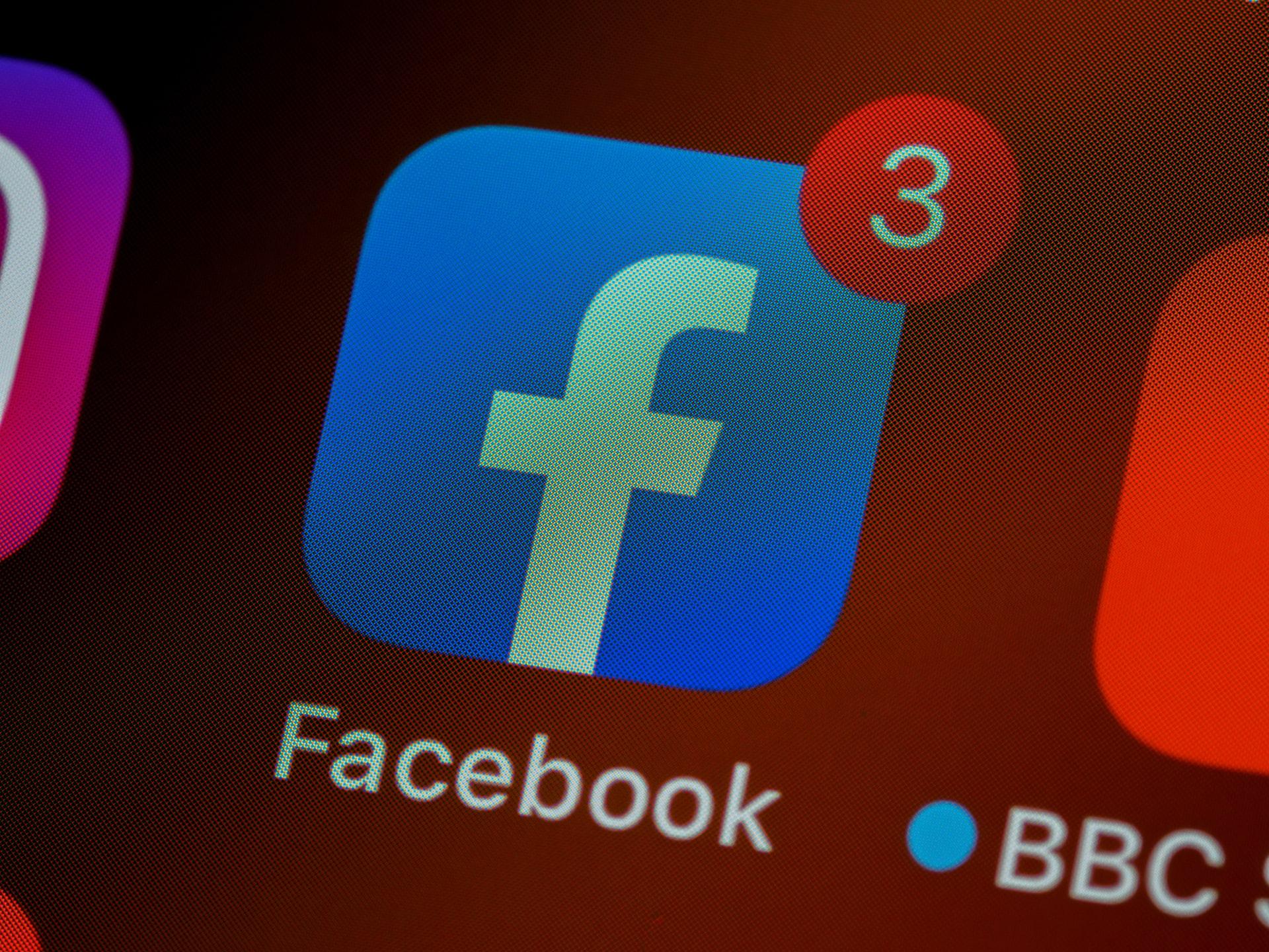 フェイスブックアプリのアイコン