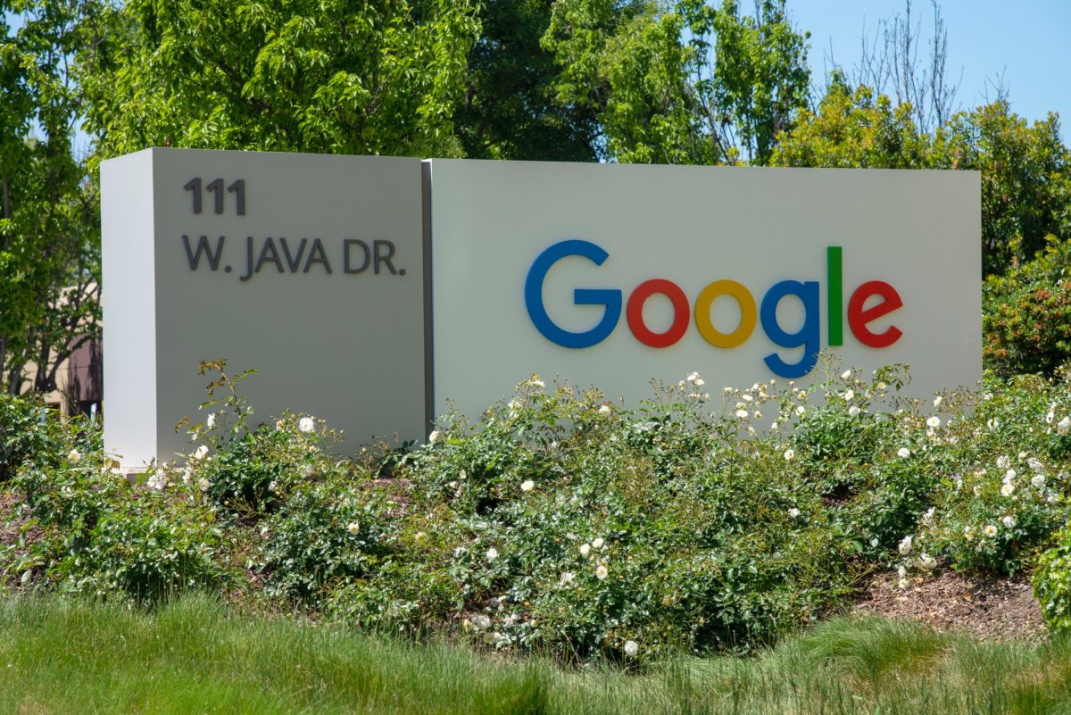 カリフォルニアにあるGoogle社の看板