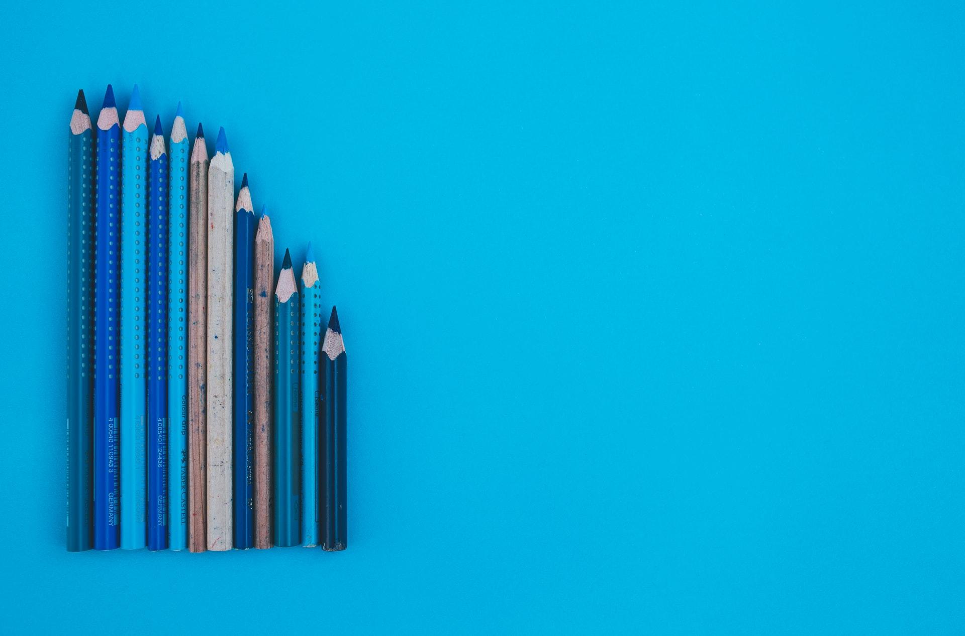 並んでいる鉛筆