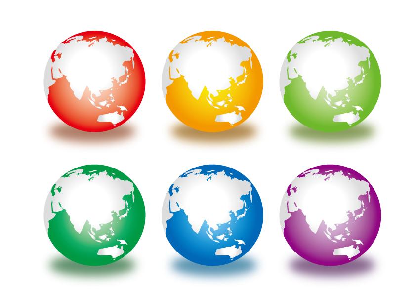 スキューモーフィズムで描かれた地球
