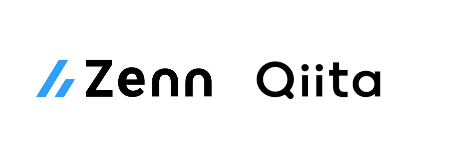 ZennとQiitaのロゴマーク