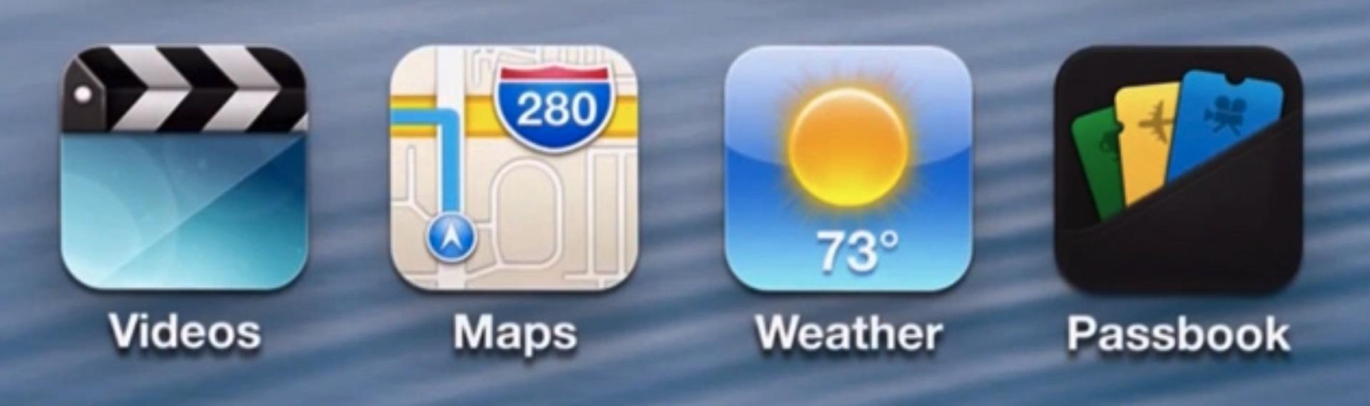 iOS6のアプリのアイコン