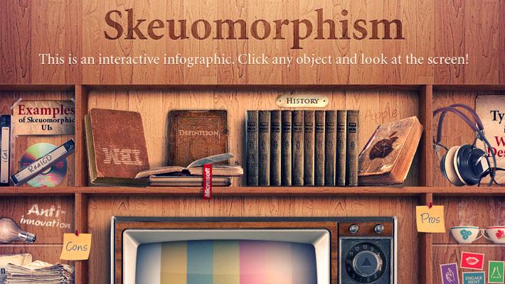 スキューモーフィズムのデザインの例