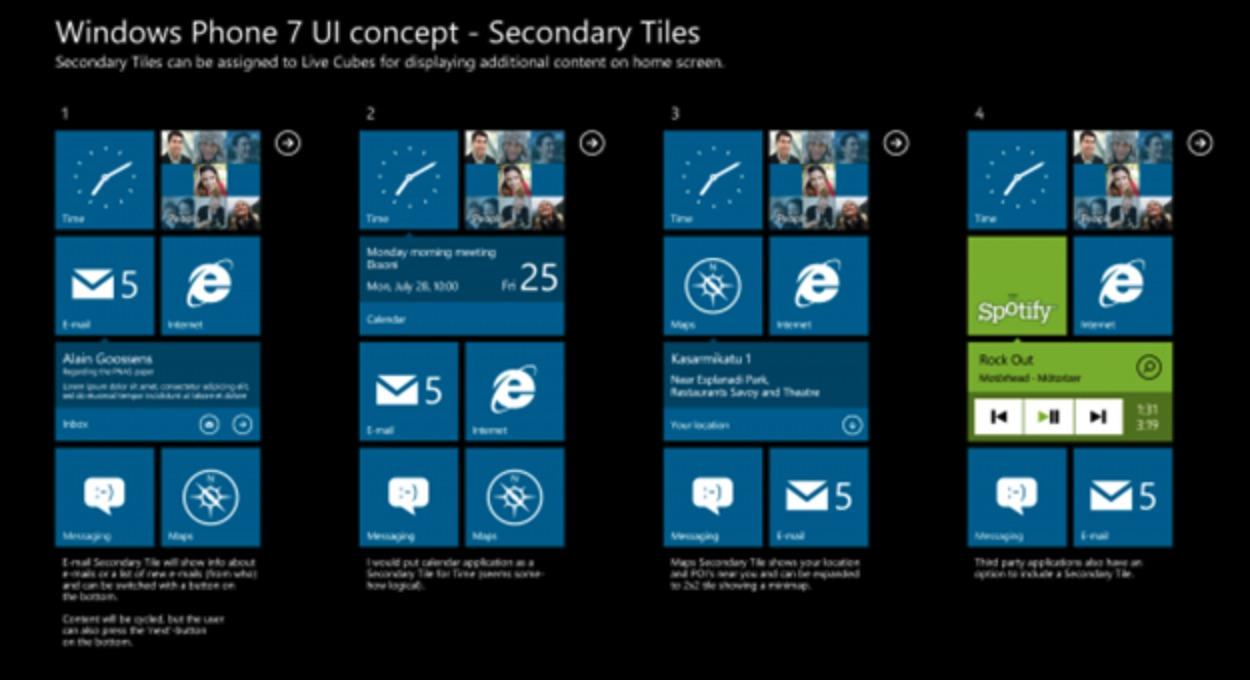 windows phone7のUI